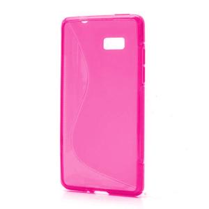 Gelové S-line pouzdro pro HTC Desire 600- růžové - 1
