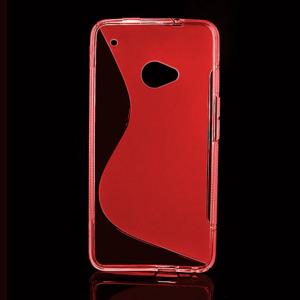 Gelové S-line pouzdro pro HTC one M7- červené - 1