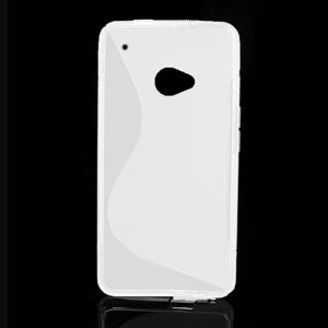 Gelové S-line pouzdro pro HTC one M7- bílé