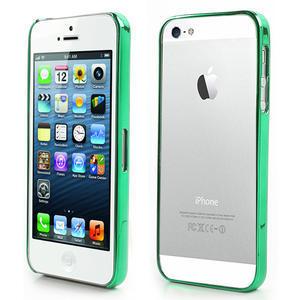 Kovové pouzdro pro iPhone 5, 5s- zelený rámeček - 1