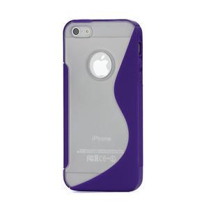 S-line hybrid pouzdro pro iPhone 5, 5s- fialové - 1