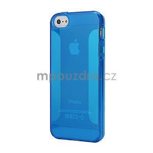 Gelové pouzdro pro iPhone 5, 5s- modré - 1