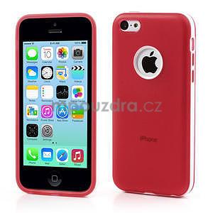 Gelové rámové pouzdro pro iPhone 5C- červené - 1