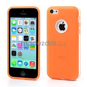Gelové rámové pouzdro pro iPhone 5C- oranžové - 1