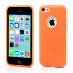 Gelové rámové pouzdro pro iPhone 5C- oranžové - 1/5