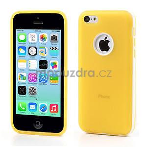 Gelové rámové pouzdro pro iPhone 5C- žluté - 1