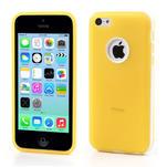 Gelové rámové pouzdro pro iPhone 5C- žluté - 1/5