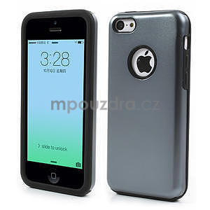 Gelové metalické pouzdro pro iPhone 5C- šedé - 1
