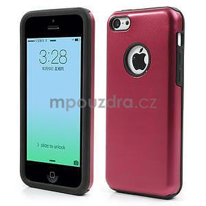 Gelové metalické pouzdro pro iPhone 5C- červené - 1