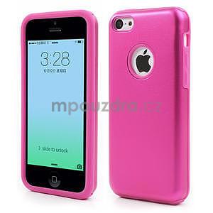 Gelové metalické pouzdro pro iPhone 5C- růžové - 1