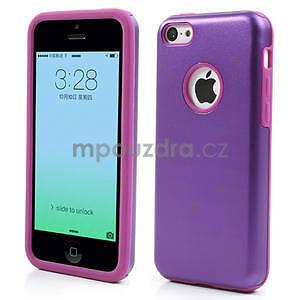 Gelové metalické pouzdro pro iPhone 5C- fialové - 1
