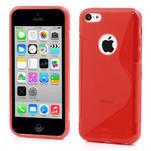 Gélové S-line puzdro pre iPhone 5C- červené - 1/5
