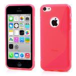 Gelové S-line pouzdro pro iPhone 5C- růžové - 1/4