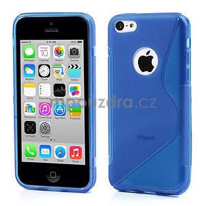 Gelové S-line pouzdro pro iPhone 5C- modré - 1