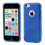 Gelové S-line pouzdro pro iPhone 5C- modré - 1/4