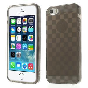 Gel-koskaté pouzdro pro iPhone 5, 5s- šedé - 1