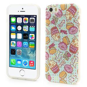 Gelové pouzdro na iPhone 5, 5s- popkorn - 1