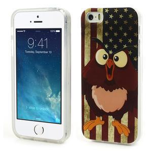 Gelové pouzdro na iPhone 5, 5s- kuřecí americká vlajka - 1