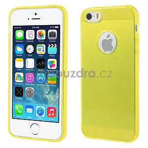 Gel-ultra slim pouzdro pro iPhone 5, 5s- žluté - 1