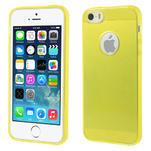 Gel-ultra slim pouzdro pro iPhone 5, 5s- žluté - 1/5