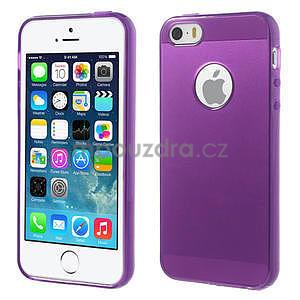 Gel-ultra slim pouzdro pro iPhone 5, 5s-fialové - 1