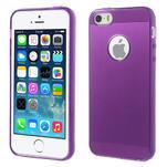 Gel-ultra slim pouzdro pro iPhone 5, 5s-fialové - 1/5