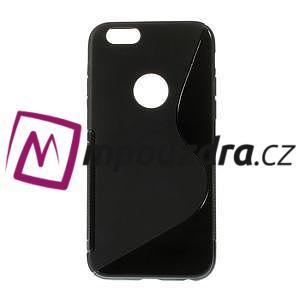 Gelové S-line pouzdro na iPhone 6, 4.7 - černé - 1