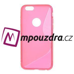 Gelové S-line pouzdro na iPhone 6, 4.7 - růžové - 1