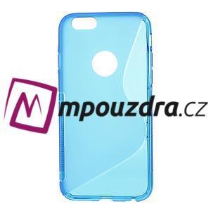 Gelové S-line pouzdro na iPhone 6, 4.7 - modré - 1