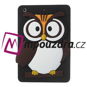 Silikonové pouzdro na iPad mini 2 - hnědá sova - 1