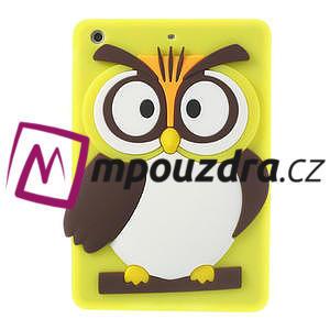 Silikonové pouzdro na iPad mini 2 - žlutá sova - 1