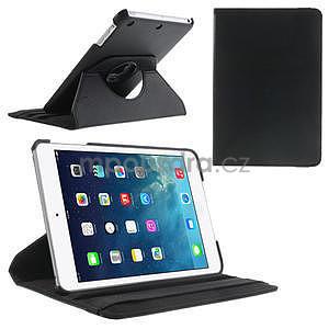 PU kožené 360 °  pouzdro pro iPad mini-černé - 1
