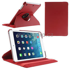 PU kožené 360 °  pouzdro pro iPad mini- červené - 1