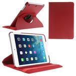 PU kožené 360 °  pouzdro pro iPad mini- červené - 1/7