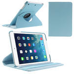 PU kožené 360 °  pouzdro pro iPad mini- modré - 1/7