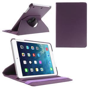 PU kožené 360 °  pouzdro pro iPad mini- fialové - 1