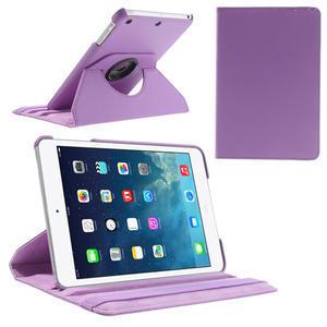 PU kožené 360 °  pouzdro pro iPad mini- světlefialové - 1