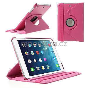 PU kožené 360 °  pouzdro pro iPad mini- růžové - 1