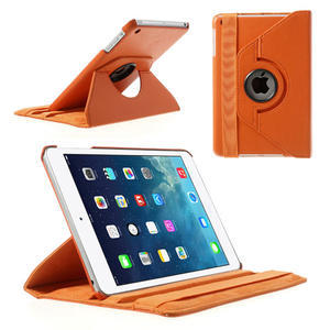 PU kožené 360 °  pouzdro pro iPad mini- oranžové - 1