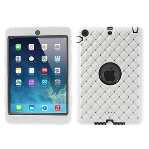 Hybridní kamínkové pouzdro pro iPad mini- bílé - 1