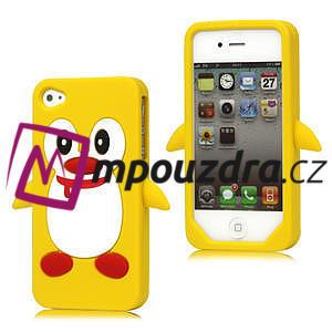 Silikonový Tučňák na iPhone 4 4S - žlutý - 1