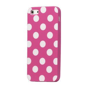 Gelové PUNTÍK pouzdro pro iPhone 5, 5s- růžový - 1