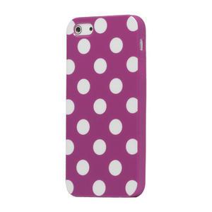 Gelové PUNTÍK pouzdro pro iPhone 5, 5s- fialový - 1