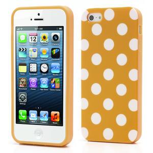 Gelové PUNTÍK pouzdro pro iPhone 5, 5s- oranžové - 1