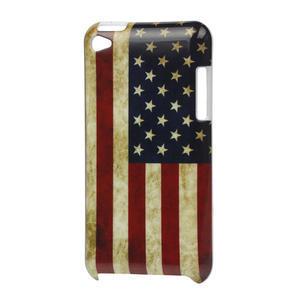 Plastové pouzdro na iPod Touch 4 - USA vlajka - 1