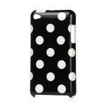 Plastové pouzdro na iPod Touch 4 - černé puntíkaté - 1/2