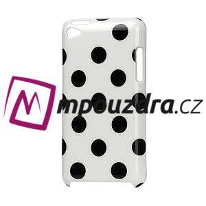 Plastové pouzdro na iPod Touch 4 - bílé puntíkaté - 1