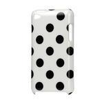Plastové pouzdro na iPod Touch 4 - bílé puntíkaté - 1/2