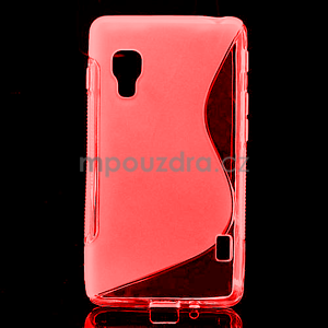 Gelové S-line  pouzdro pro LG Optimus L5 II E460- červené - 1
