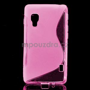 Gelové S-line  pouzdro pro LG Optimus L5 II E460- růžové - 1